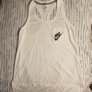 S White & Black Nike Razorback Tank Top w/Pocket